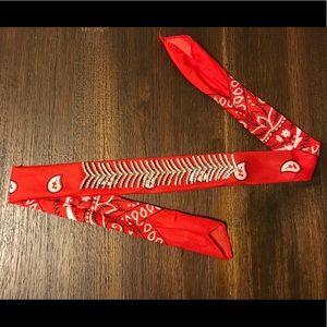 Red Bling Bandanna Headband